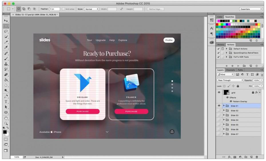 Slides Framework — слайды в Adobe Photoshop