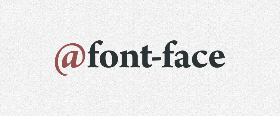 CSS font-face directive