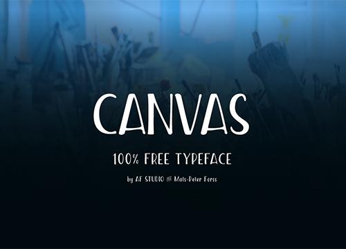 Canvas — бесплатный шрифт
