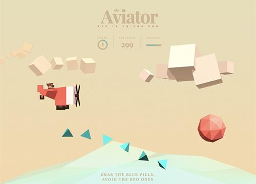 Игра «The Aviator» на Three.js