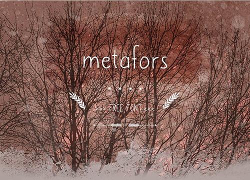 Бесплатный шрифт Metafors
