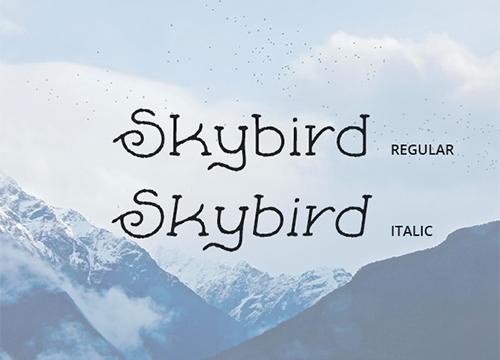 Бесплатный шрифт Skybird