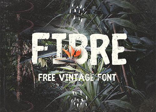 Fibre — бесплатный шрифт