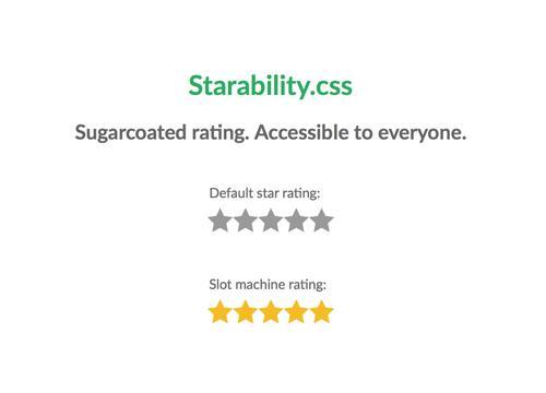 starability.css — звёздочный рейтинг, «доступный» для всех