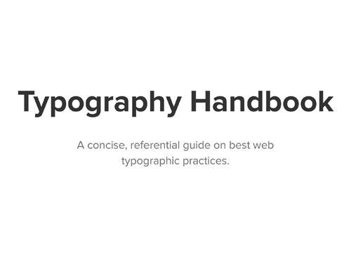 Typography Handbook — советы по типографике
