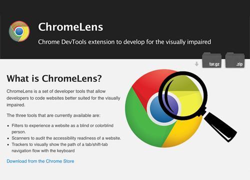 Расширение ChromeLens для тестирования доступности
