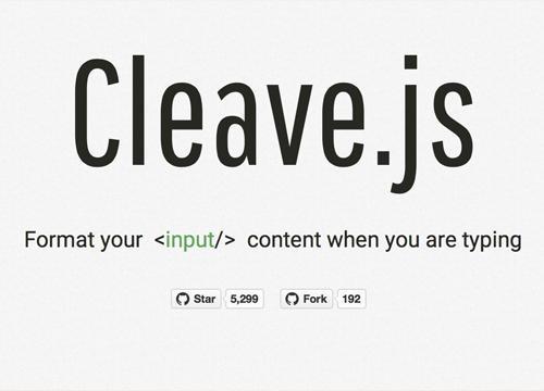 Cleave.js — форматирование HTML инпутов