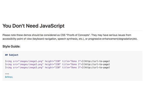 Нам не нужен JavaScript (несколько концепций)