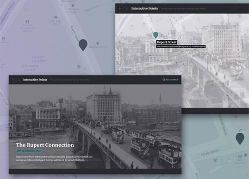 Интерактивная карта с точками на JavaScript