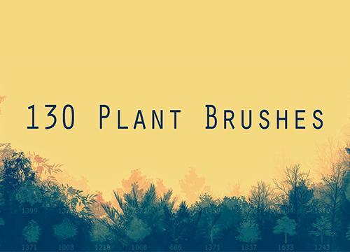 Кисти с растениями для Adobe Photoshop