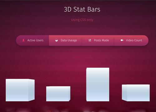 Статистические 3D колонки на CSS