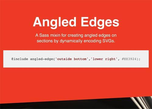 Скошенные углы на Sass и SVG