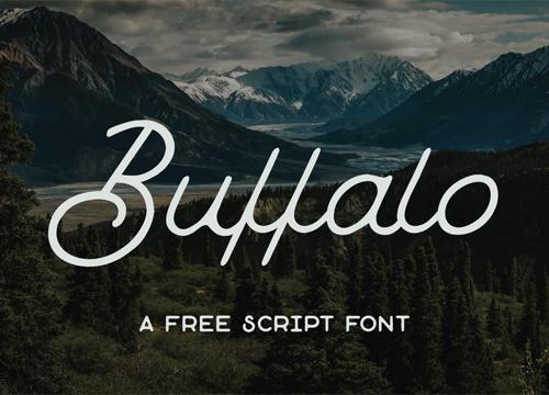 Бесплатный рукописный шрифт Buffalo