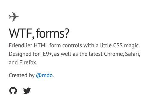 WTF forms? — дружелюбные стили для форм