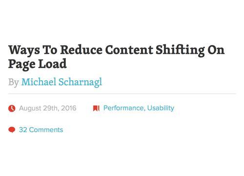 Уменьшаем «скачки» контента при загрузке страницы