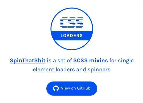 SpinThatShit — набор прелоадеров из Sass миксинов