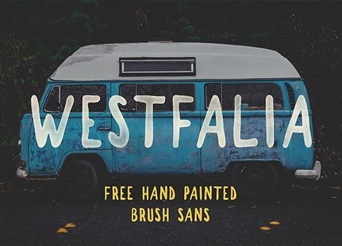 Westfalia — бесплатный шрифт ручной работы