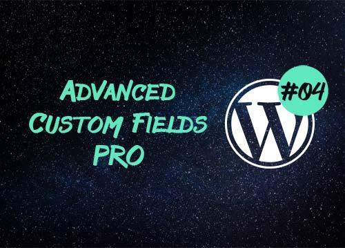 Advanced Custom Fields Pro — страницы с настройками