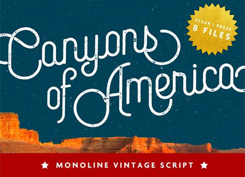 Canyons Vintage Script — бесплатный шрифт
