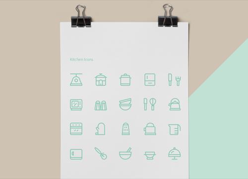 Набор кухонных иконок от Codrops