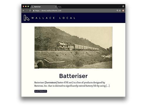 Wallace — тема для WordPress на Angular