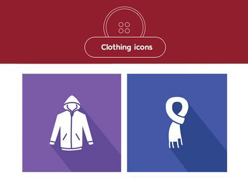 Иконки с одеждой от Smashing Magazine