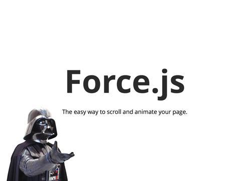 Force.js — простой способ анимировать скролл