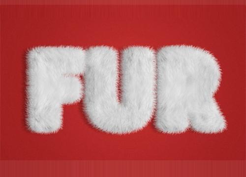 «Меховой» текстовый эффект для Adobe Photoshop