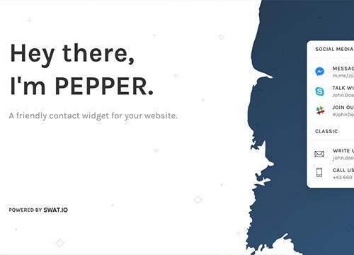 Pepper — контактный виджет с любыми данными