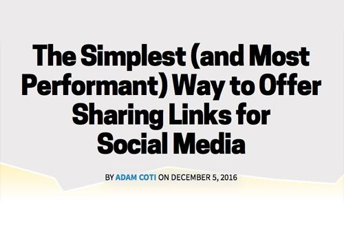Самый простой способ поделиться в социальных сетях