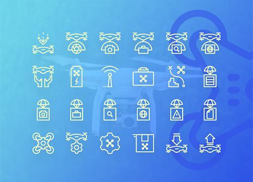 Иконки дронов от Codrops
