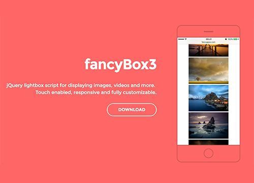 fancyBox3 — jQuery lightbox script