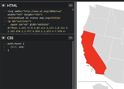 Интерактивные карты с использованием SVG