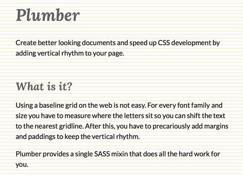 Plumber — простой вертикальный ритм на Sass