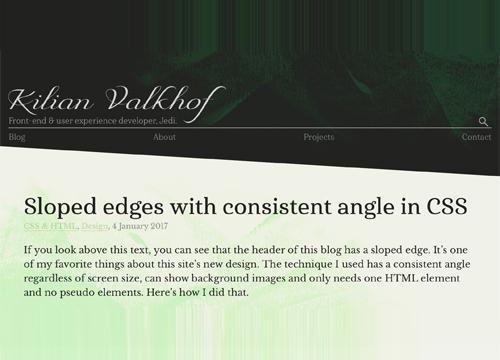 Скошенные углы на CSS, еще одно решение