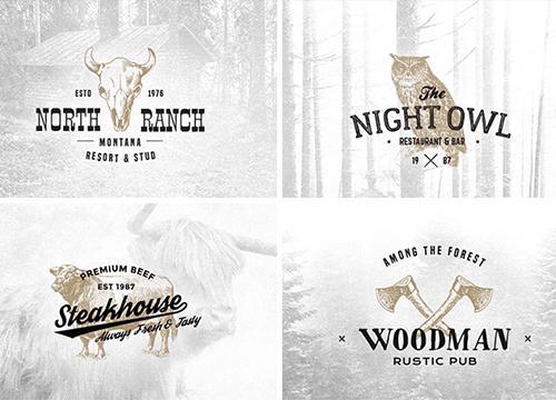 Набор винтажных логотипов #7