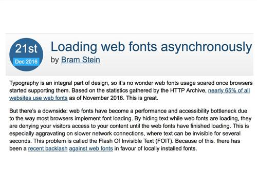 Подгрузка веб шрифтов асинхронно