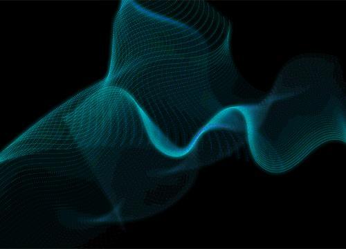 Волны с частицами в Adobe Illustrator