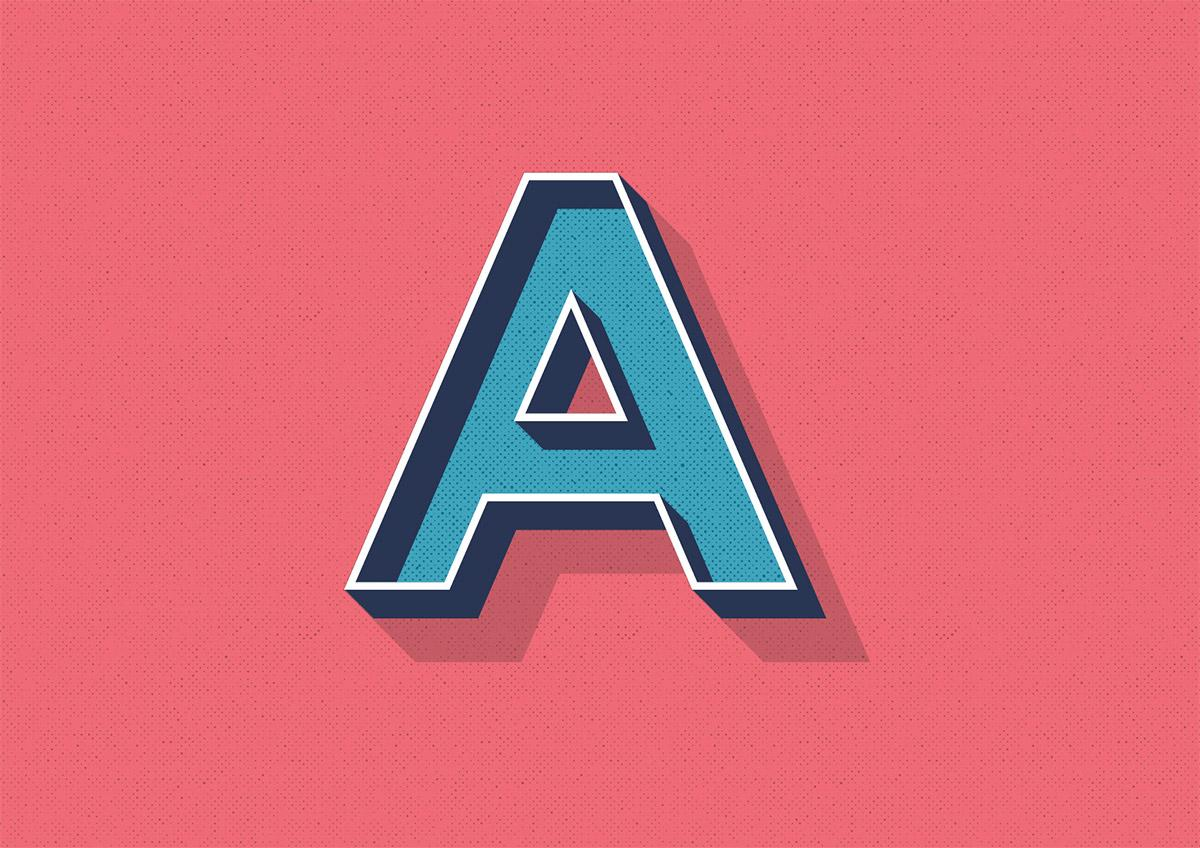 Ретро стиль текста в Adobe Illustrator