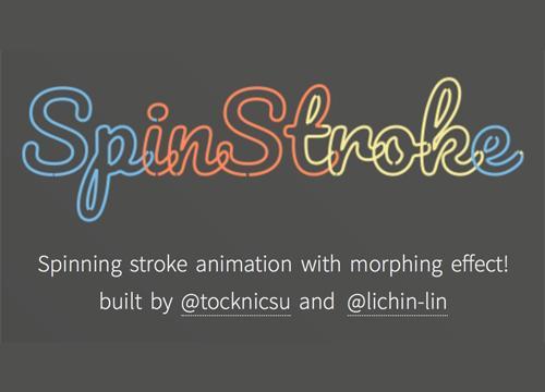 SpinStroke — анимации с помощью SVG и Canvas