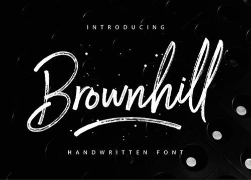 Бесплатный рукописный шрифт Brownhill