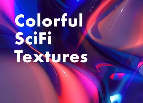 Цветные научно-фантастические текстуры
