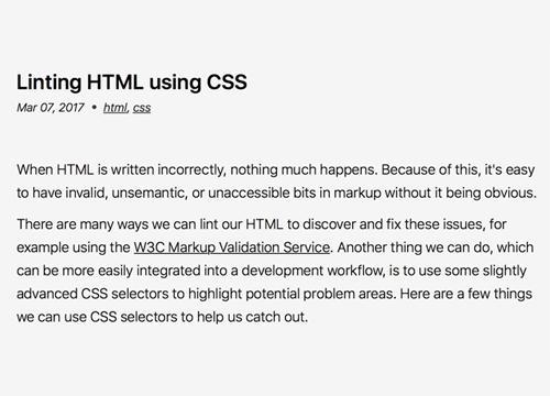 «Проверяем» HTML с помощью CSS