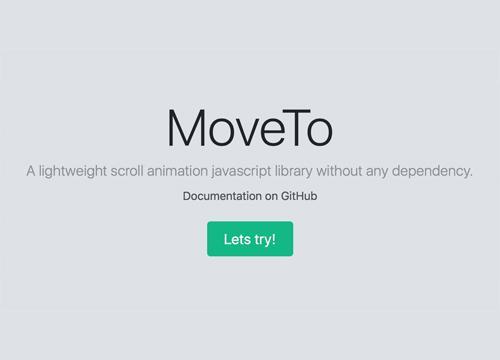 MoveTo.js — библиотека для анимации скроллинга