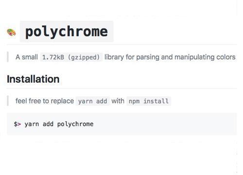 Polychrome — библиотека для манипулирования цветами