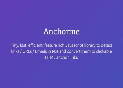 Anchorme — конвертируем текст в ссылки