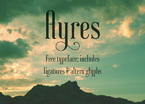 Бесплатный шрифт Ayres
