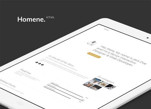 Homene — очередной бесплатный HTML шаблон