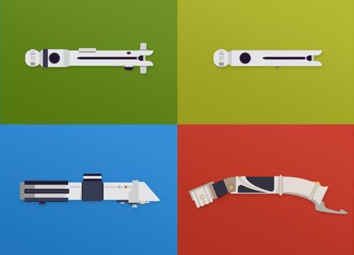 Архив векторных световых мечей