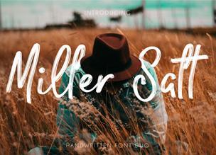 Miller Salt — бесплатный рукописный шрифт